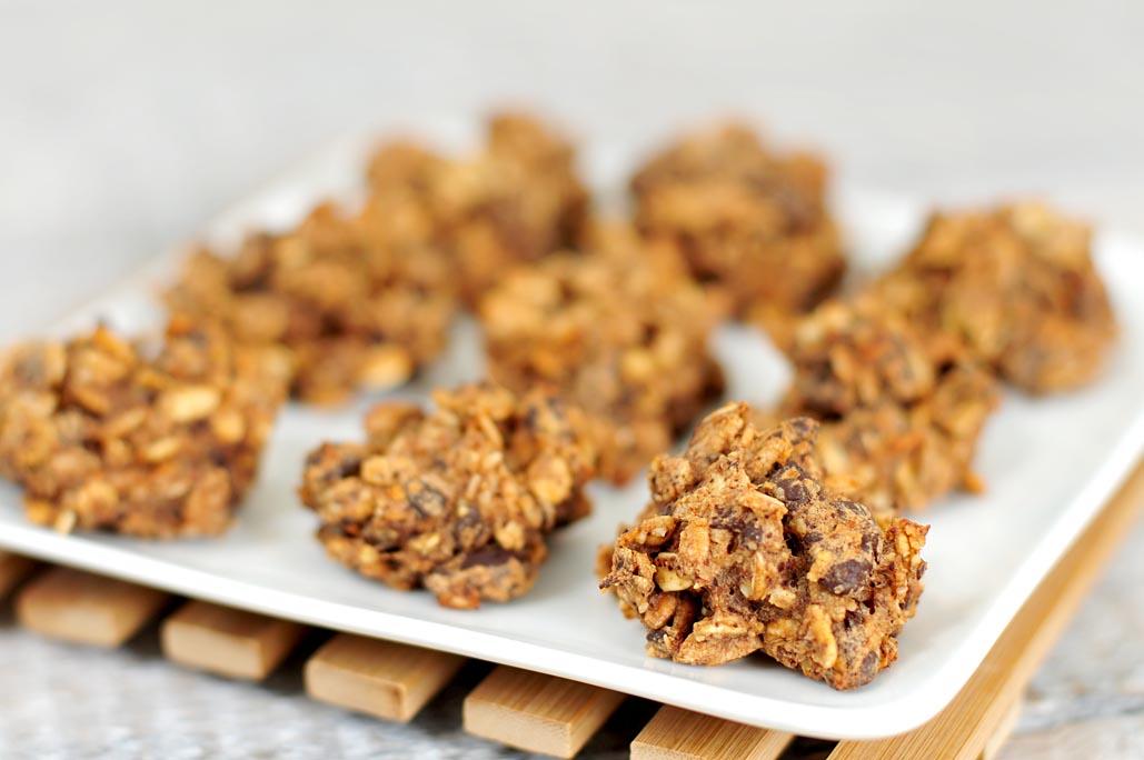Gezonde snack chocolade haver koekjes zonder toegevoegd suiker voedzaam snel - Snack eten ...