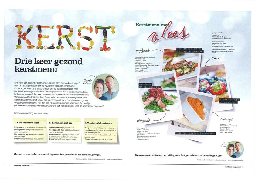 Westland magazine kerstmenu's