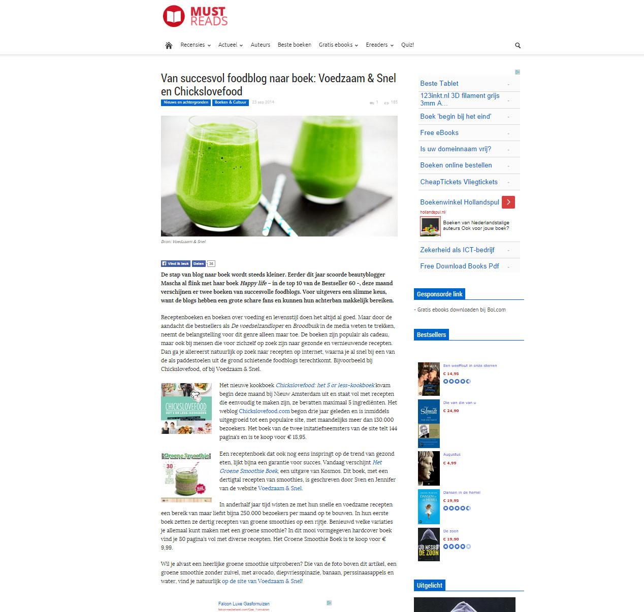 Mustreads over Het Groene Smoothie Boek