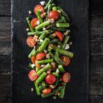 Groene asperge salade
