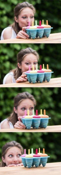 Regenboog ijsjes maken