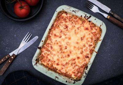 Vegetarische lasagne van broccoli en courgette