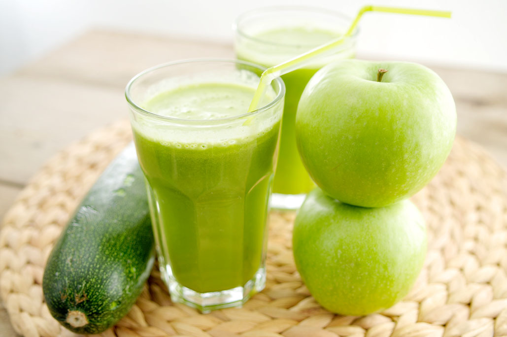 Groene sap appel cougette