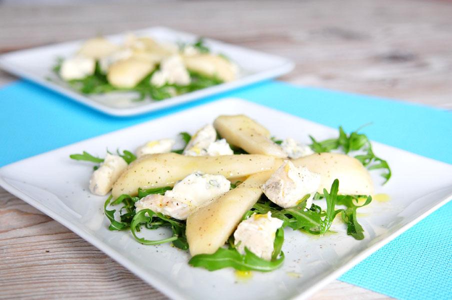 salade van peer en gorgonzola