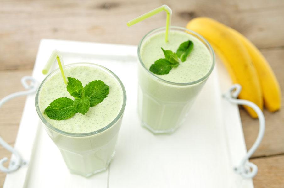 banaan-munt-smoothie