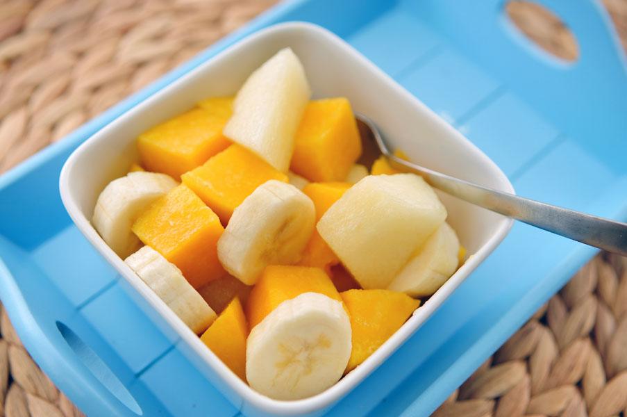 fruitsalade-mango-meloen-banaan
