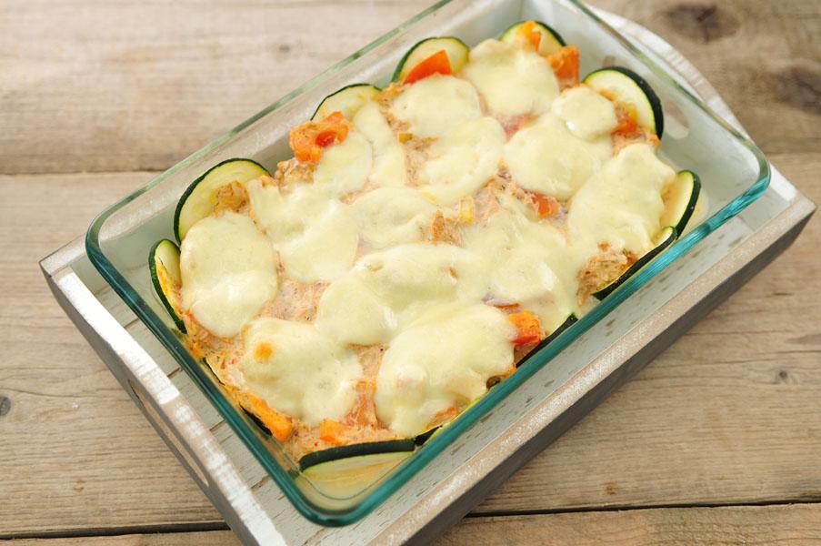 ovenschotel-tonijn-courgette-tomaat