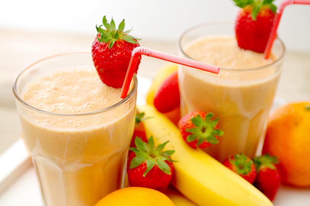 smoothie-aardbei-banaan-sinaasappel