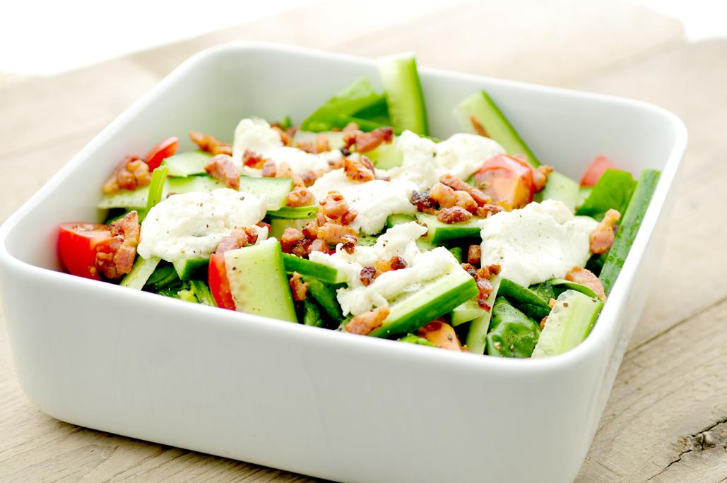 Spinazie-salade-geitenkaas