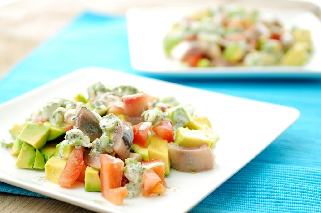 haringsalade met avocado