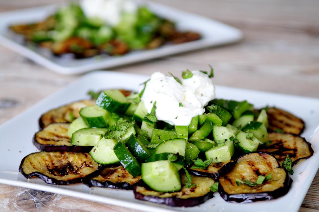 aubergine-salade-munt
