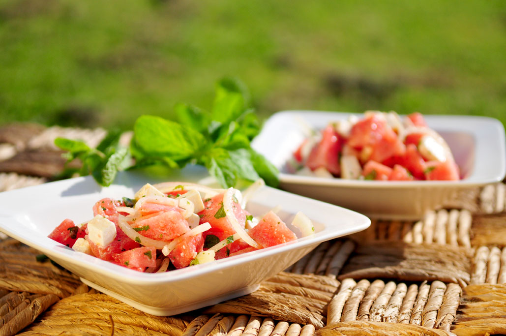watermeloensalade-feta-munt