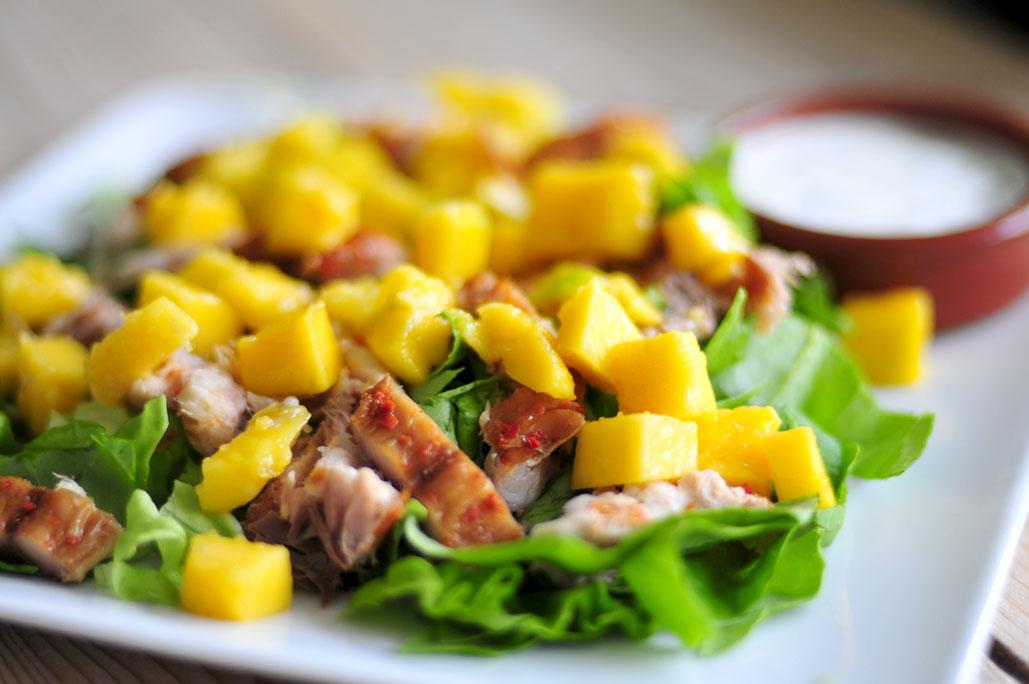 Makreelsalade met mango