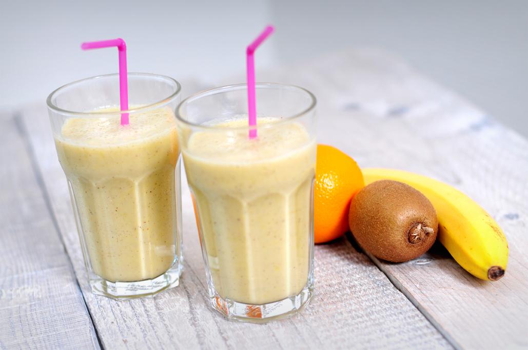 fruitsmoothie met amandelmelk