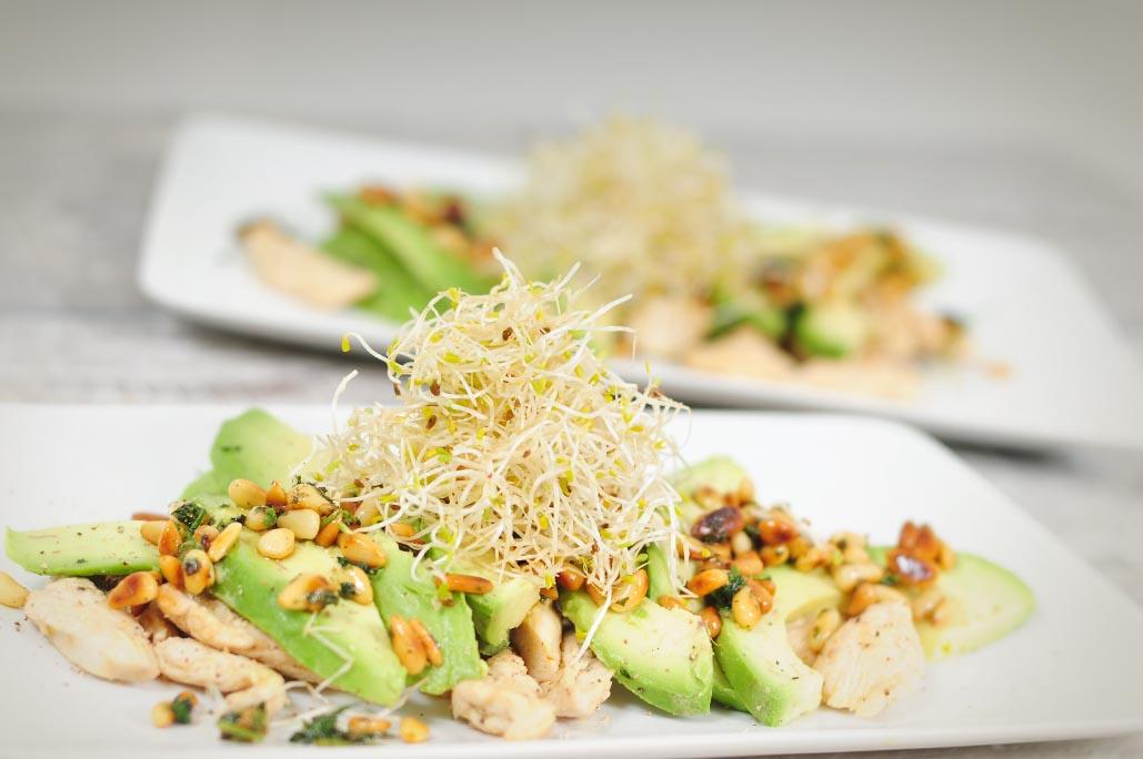 Kip salade met avocado