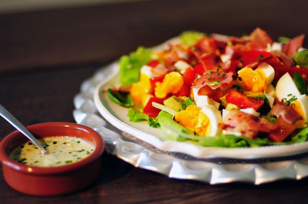 Paprika salade met ei
