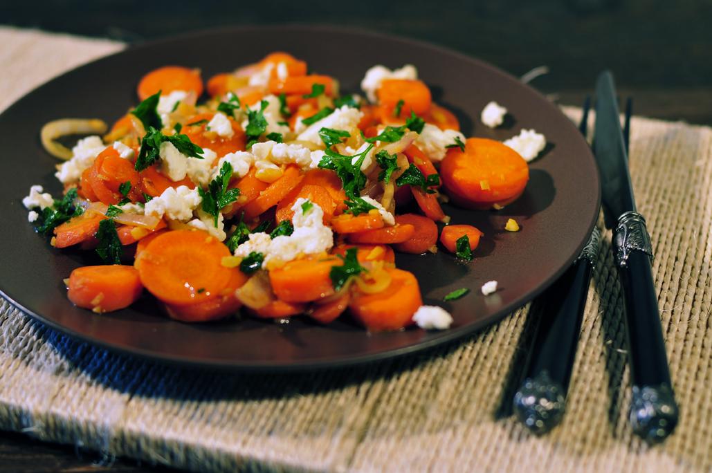 wortelen met gember en ui