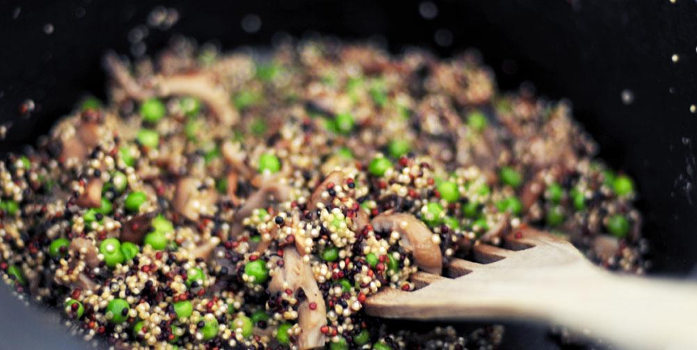 Gezonde risotto van quinoa