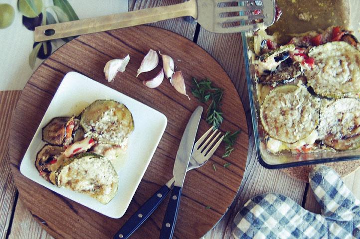 Koolhydraatarme lasagne van courgette en tonijn