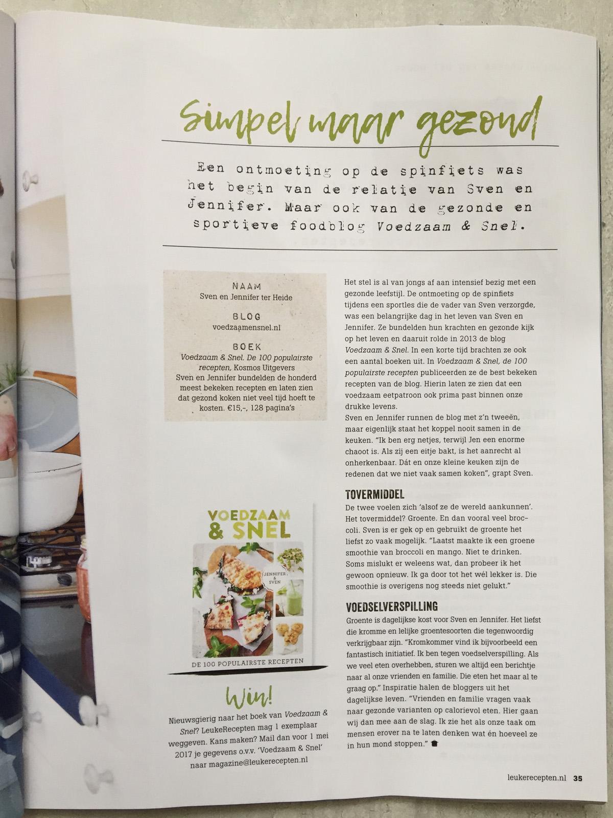Leuke recepten magazine