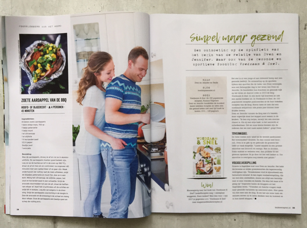 leuke recepten magazine - interview Jennifer & Sven