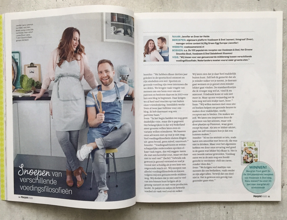 Margriet food special - Sven en Jennifer