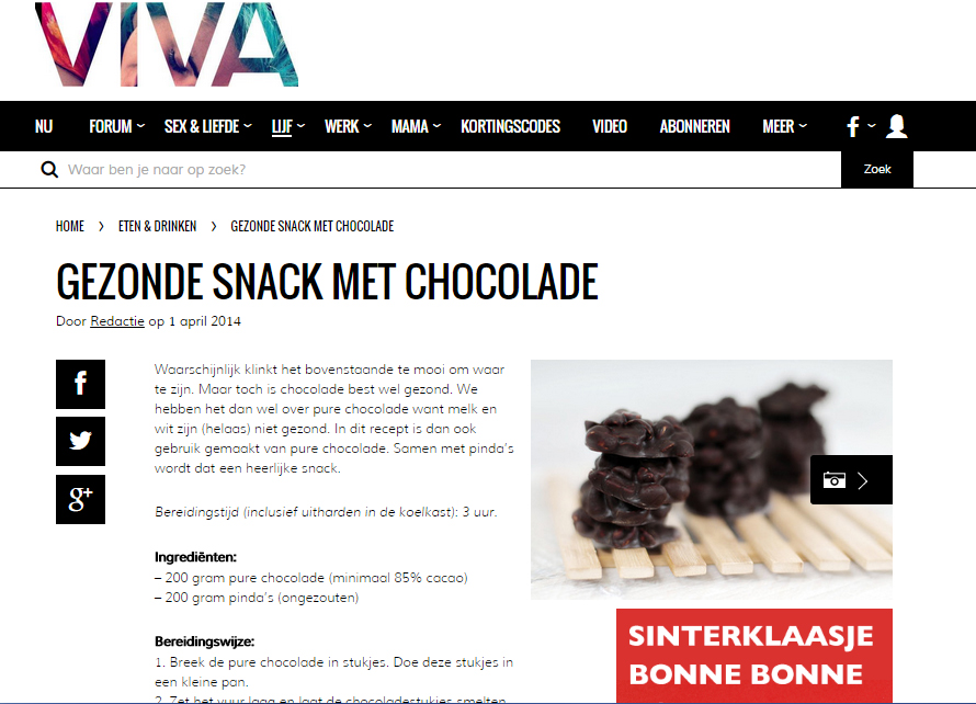 gezond snack choco Viva 1april2014