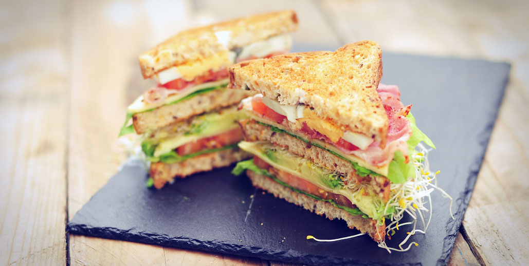 Glutenvrije club sandwich van dr. schar brood