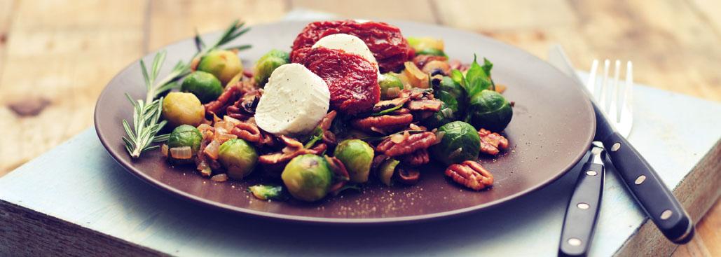 Spruitjes met pecannoten en rozemarijn