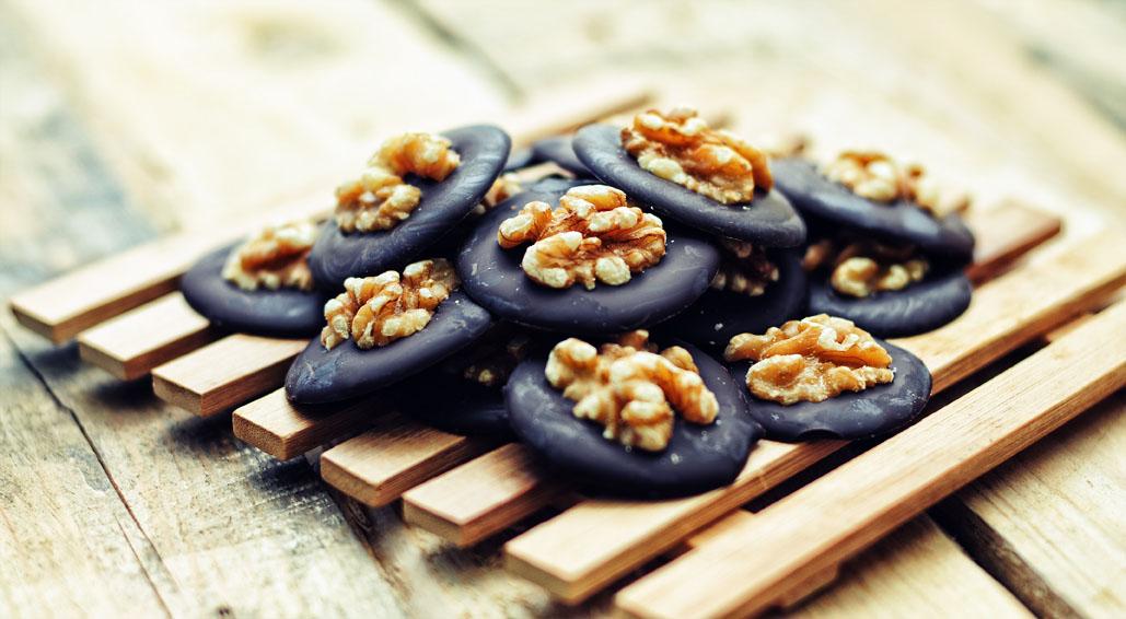 Chocolade walnoot koekjes