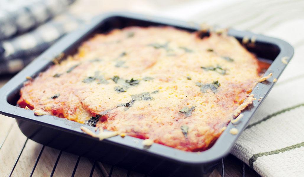 Lasagne van knolselderij en pompoen