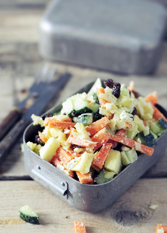 knapperige wortel kool salade