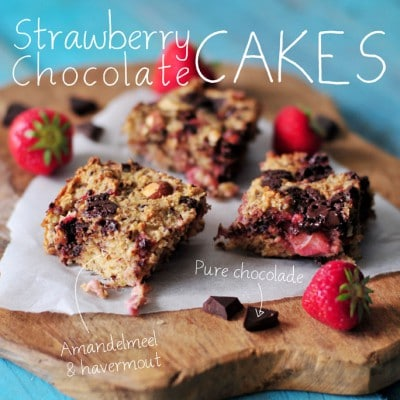 Aardbei chocolade cakes