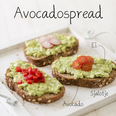 Ei avocado spread