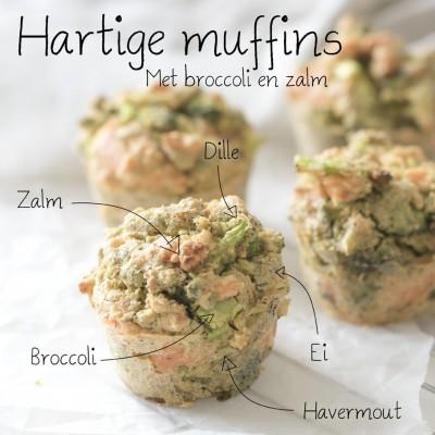 Hartige muffins met broccoli en zalm