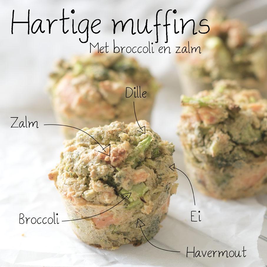 Hartige Muffins Met Broccoli En Zalm Voedzaam Snel