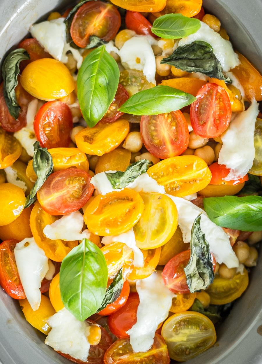 Gekleurde tomaatjes uit de oven