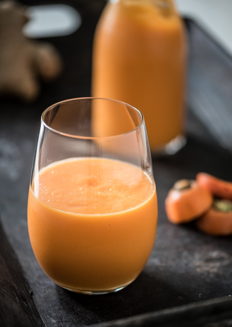 Mango wortel smoothie met gember