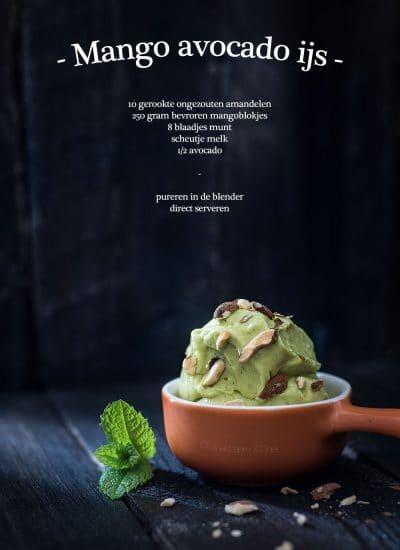 Mango avocado ijs