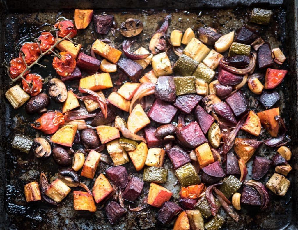 geroosterde groenten met balsamico en rozemarijn