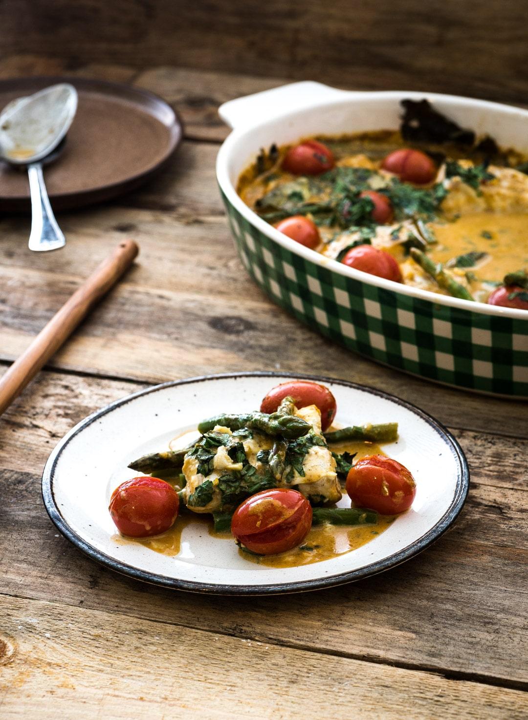 kabeljauw curry uit de oven