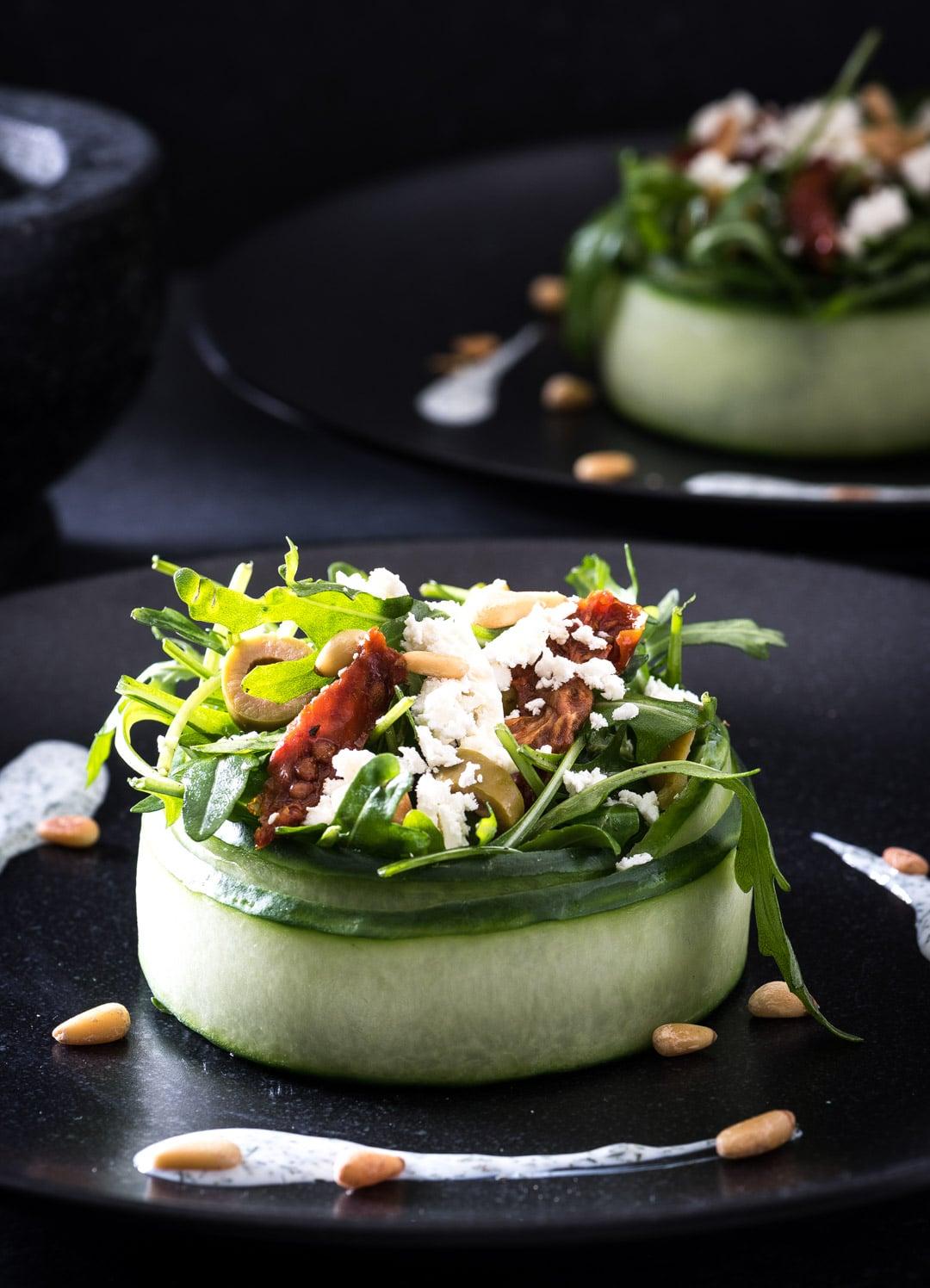 Simpel Salade Voorgerecht In Komkommerbakje Voedzaam Snel