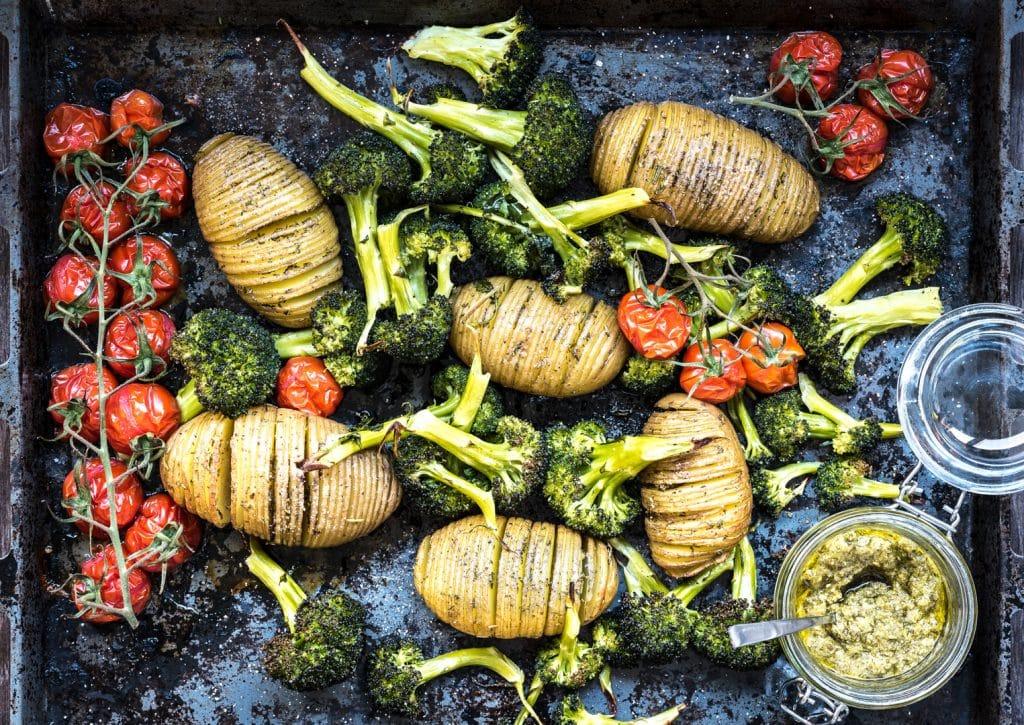 aardappels met broccoli uit de oven