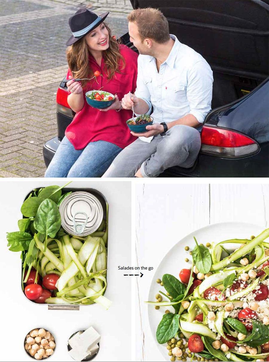Saladeboek aanbiedingsfolder