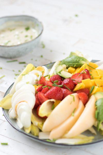 Zomerse witlofsalade fruit 2