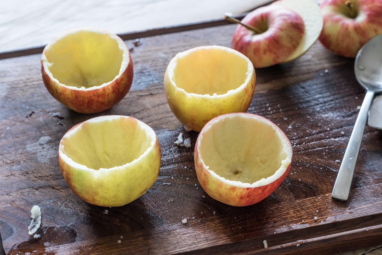 Afbeelding van leeggeschepte appels