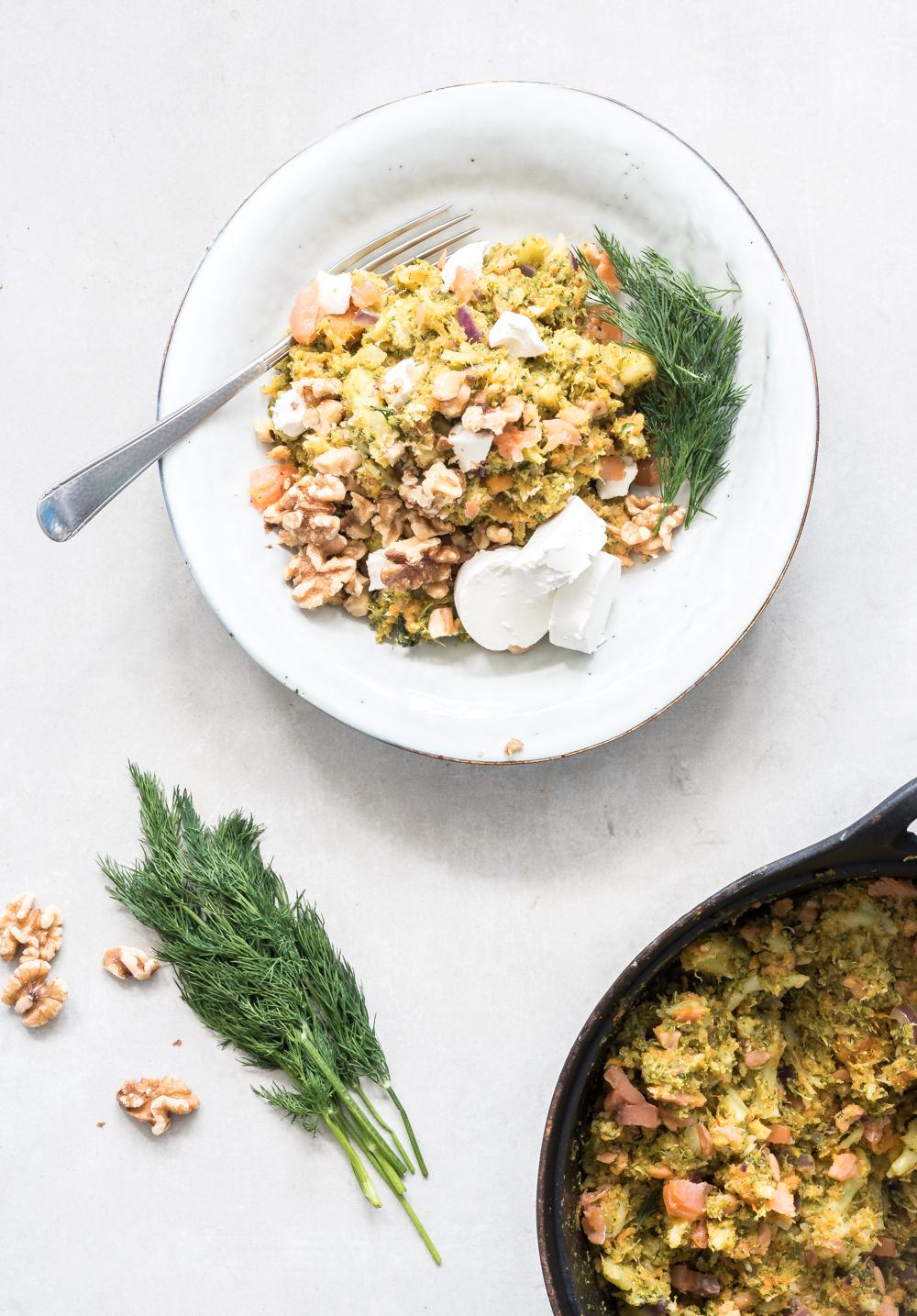 Recept voor stamppot met broccoli en zoete aardappel