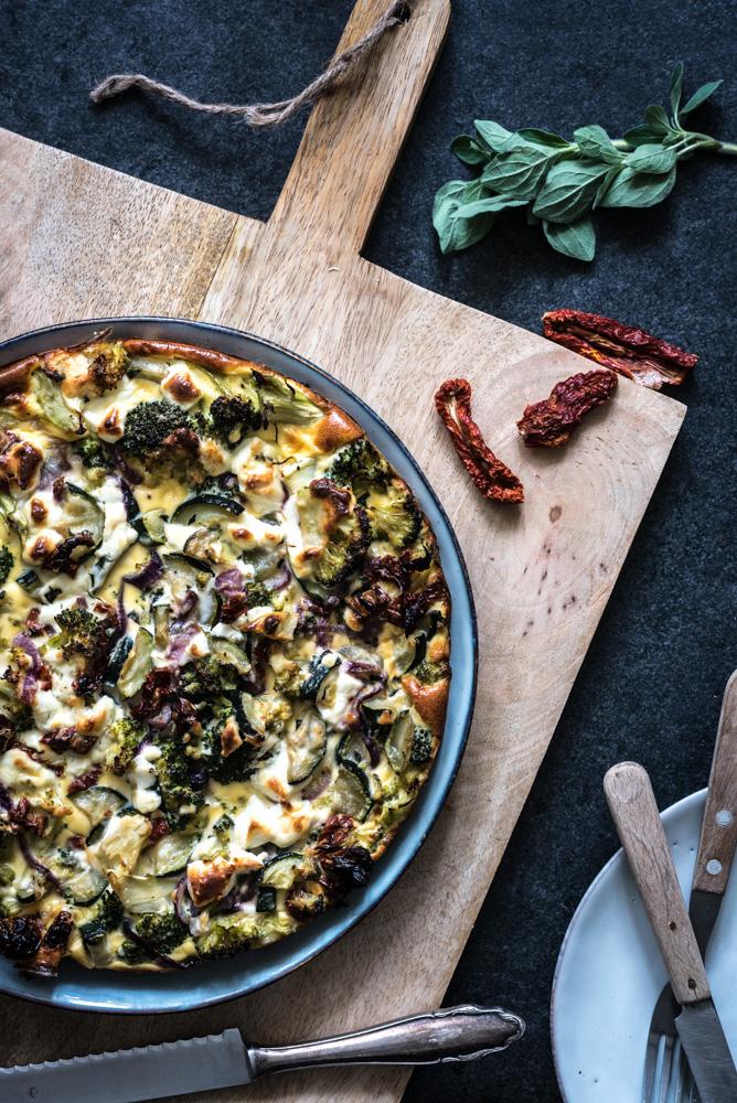 gezonde quiche met broccoli en geitenkaas