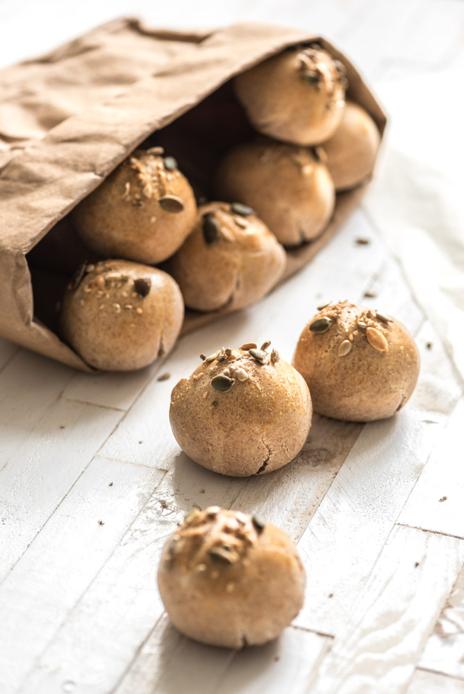 Super Snelle volkorenbroodjes maken-Voedzaam & Snel #HZ48