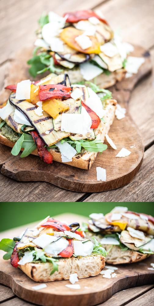 bruschetta met gegrilde groenten